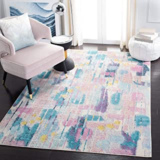 Safavieh Grace Tapis Abstrait en polypropylène tissé Rose/Turquoise 120 x 180 cm