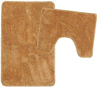 Poligono Juego de alfombrillas de baño de 2 piezas de microfibra, alfombra de 50 x 80 cm, alfombrilla para WC Water Forma ...