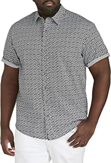 Twenty-Eight Degrees by DXL Big and Tall Paisley Print Sport Shirt
