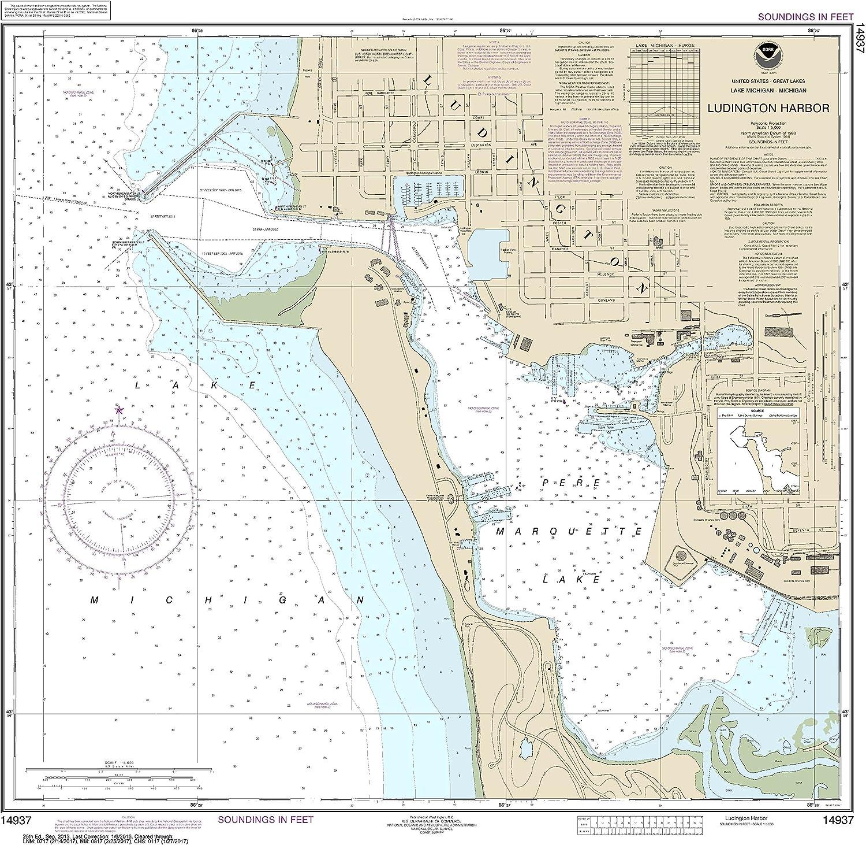 NOAA outlet Chart Trust 14937 Ludington Harbor: 29.06