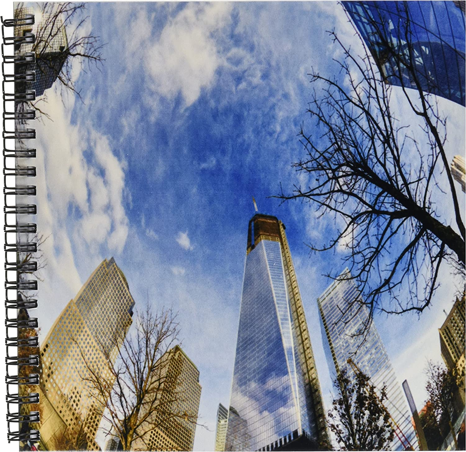 3dpink db_98351_1 Looking Up in NYC at The Sky, Buildings and Trees Drawing Book, 8 by 8Inch