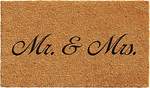 Calloway Mills 101221729 Mr And Mrs Doormat 17 X 29 Natural Black