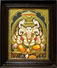 Chola Impressions Exclusive Panchmukh Ganesh Tanjore Painting 1.5 ft x 1.25 ft