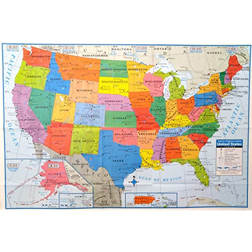 United States Map Detailed.Map Of Usa Amazon Com