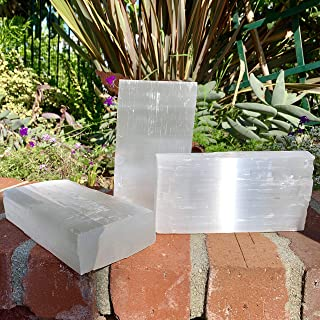 Sparkle Rock Pop Selenite Crystal Brick - Energy Infused, Natural Healing Gemstone - use it to Recharge Your Crystals!