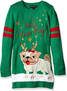 Girls Ugly Christmas Sweater Dog