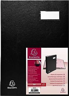 Exacompta Direction Signature Book, A4, 20 Compartments - Black