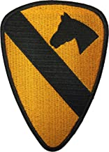 Papapatch 1st Cavalry Division Unit US Army Armed Forces Hook and Loop Touch Fasteners Backing Patch (SC-HOOK-1ST-CAVA-YL)