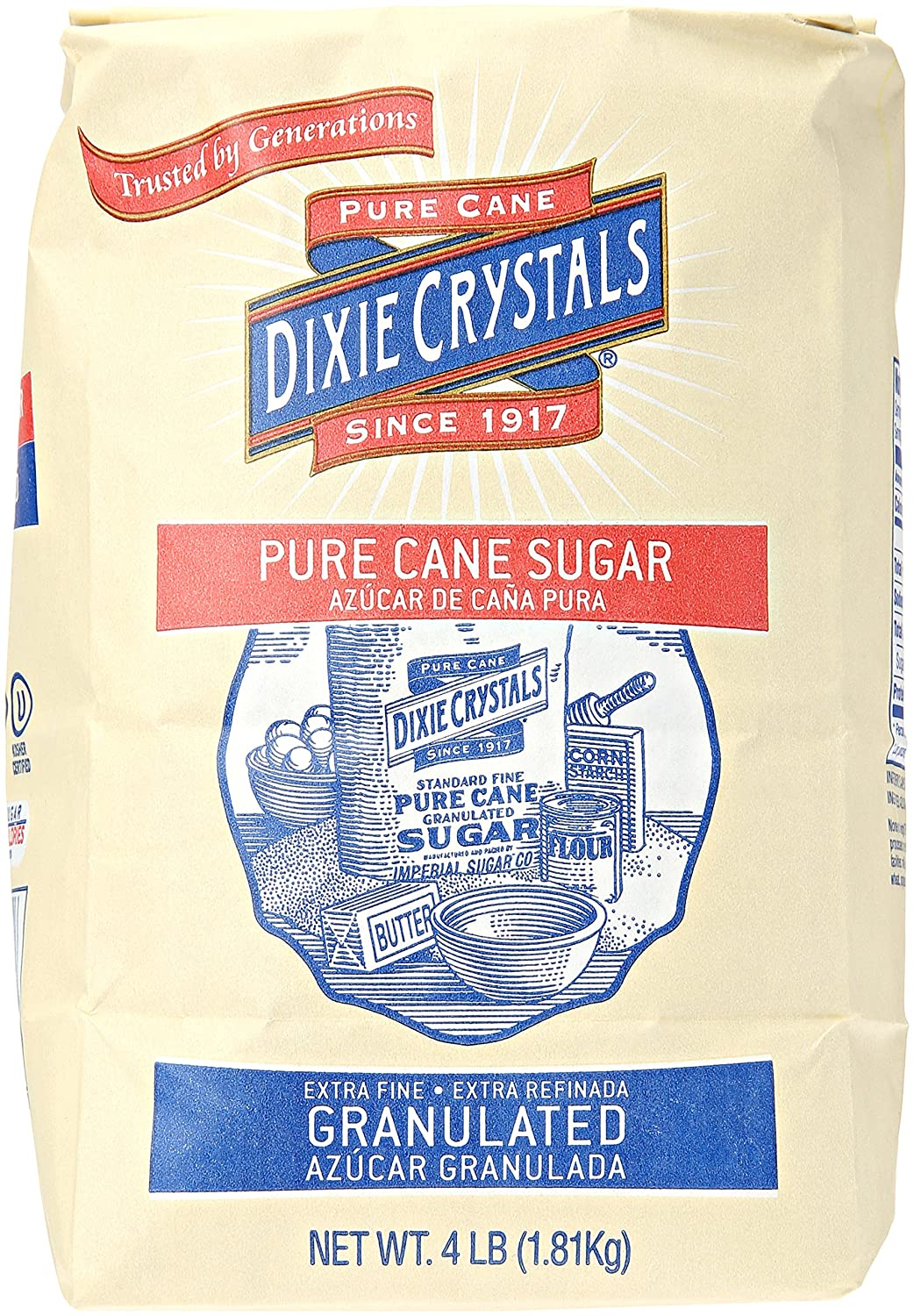 Imperial New Shipping Free Sugar Dixie Crystals 4 lb Pure Cane High quality new