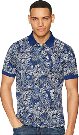 Robert Graham Mauri Short Sleeve Knit Polo