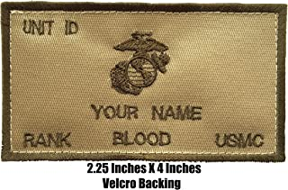TacticalStitches.com Flak Jacket Identification Patch/Tag with Fastener