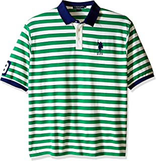 Men's Big-Tall Slim Fit Shadow Stripe Polo Shirt