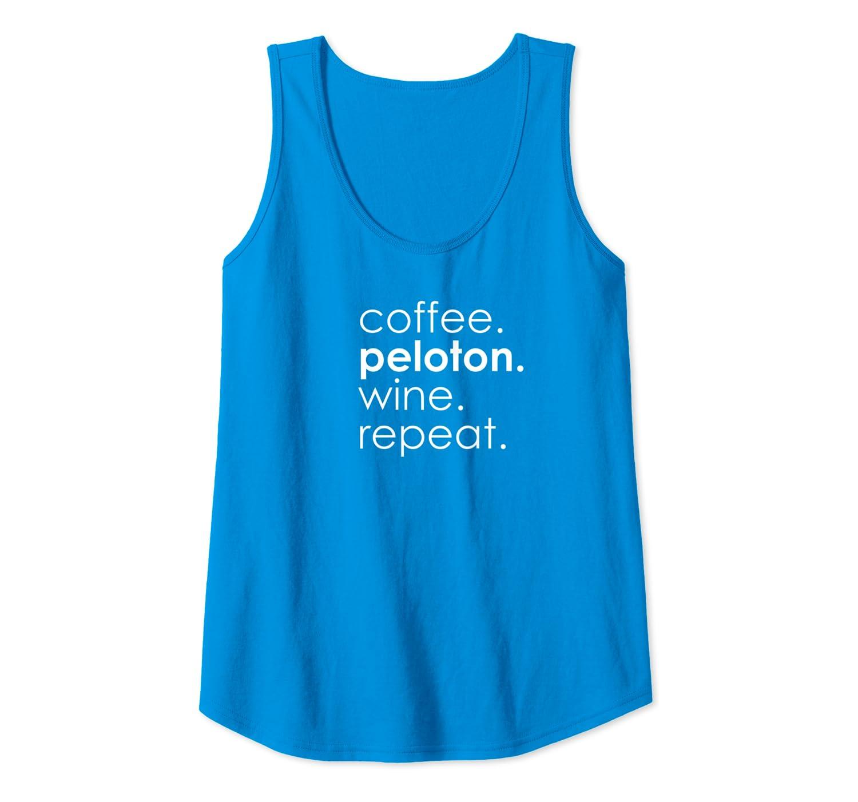Peloton Womens Coffee Wine Repeat Tank Top