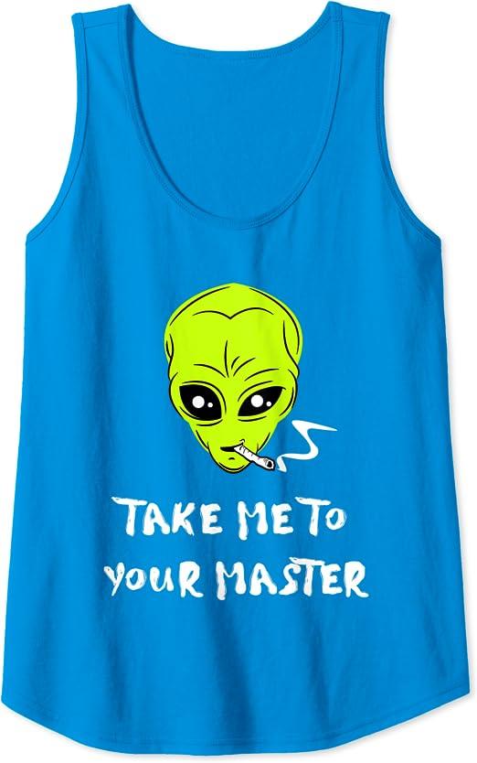 Funny Alien Ll/évame con tu amo Camiseta sin Mangas