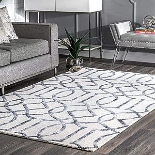 nuLOOM Satara Moroccan Trellis Wool Rug, 5' x 8', Silver
