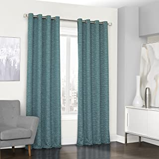 Eclipse Palisade Blackout Grommet Window Curtain Panel, 52x95, Teal
