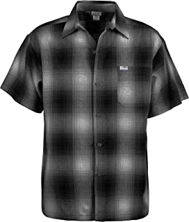 Men's Regular-Fit Short-Sleeve Plaid Western Flannel Shirt