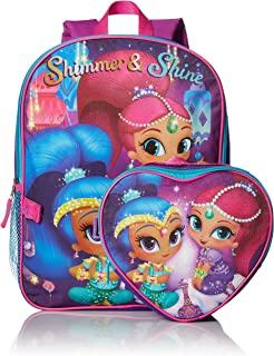 shimmer and shine backpack and lunchbox