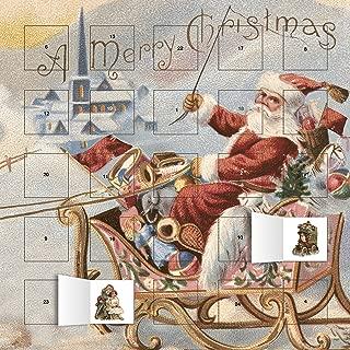 Santa's Sleigh advent calendar (with stickers)