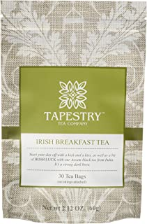 Tapestry Tea Company Irish Breakfast Black Tea Bags Full Bodied Traditional Irish Tea - 30 Count