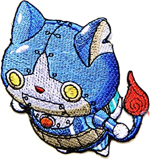 Robonyan Yo-kai Watch Cat Cartoon Figure Patch Iron on Sew Embroidered Applique Craft Clothing Hoodie Cap T shirt Costume Gift Collection