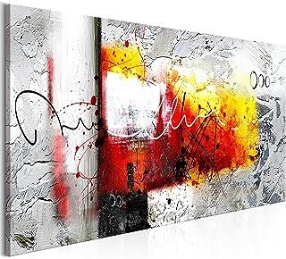 murando Impression sur Toile intissee Abstrait 120x40 cm Tableau 1 Partie Tableaux Decoration Murale Photo Image Artistiqu...