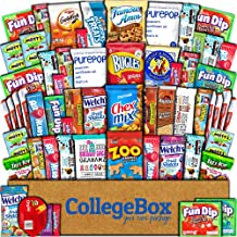 College Box Care Package (60 Count) Snacks Cookies Bars Chips Candy Ultimate Variety Gift Box Pack Assortment Basket Bundle Mixed Sampler Treats College Students Office Fall Final Exams Christmas