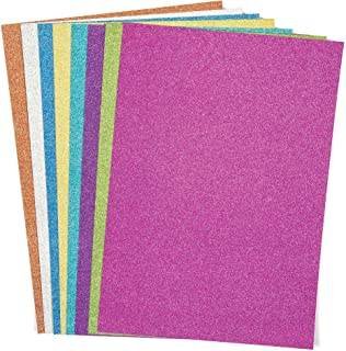 Baker Ross AC373 Tarjeta con Purpurina Multicolor A4 (paquete de 16, 250 g) papel de color para decorar para niños