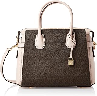 Michael Kors Mercer Ladies Medium Two Tone PVC Satchel Bag