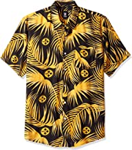 FOCO NFL Mens Floral Tropical Button Up Shirt