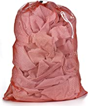 """Commercial Mesh Laundry Bag - Sturdy Mesh Material with Drawstring Closure. Ideal Machine Washable Mesh Laundry Bag for Factories, College, Dorm and Apartment Dwellers. (24"""" x 36""""�