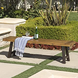 guyapi outdoor wood garden bench