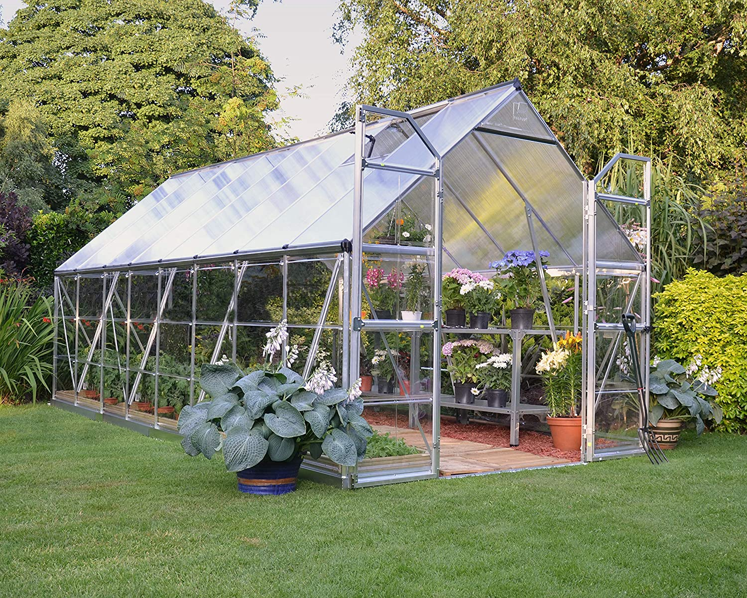 Palram BALANCE 8X16 EXTENDED SILVER GREENHOUSE