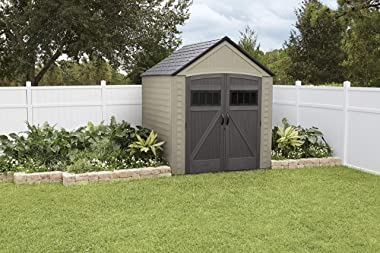 Rubbermaid Outdoor Storage Shed, 7X7 feet, Resin Weather Resistant Outdoor Garden Storage Shed for Backyard, Garden, Tool Sto
