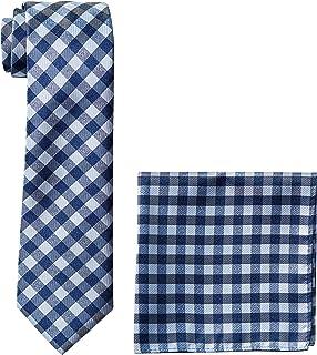 طقم مربع للجيب ورباط شريطي للرجال من نوتيكا باللون الأزرق الداكن، مقاس واحد