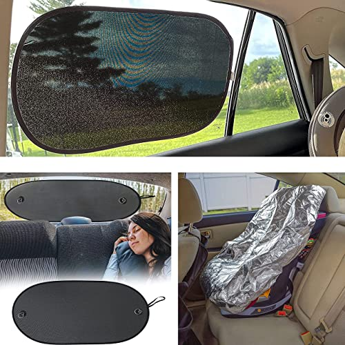high quality EcoNour Gift Bundle | Car Shades for Side Windows 25x16 Inches (2 Pack) + Sun Shade for wholesale Back Car Window (39x17 Inches) + Baby Seat Sunshade Cover | Total popular Sun Glare and Heat Protection online sale