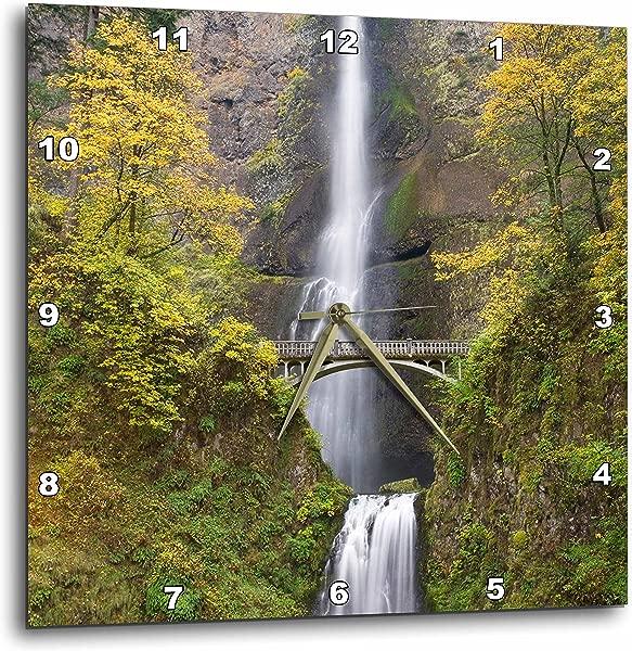 3dRose Dpp 93680 2 Oregon Columbia River Gorge Multnomah Falls US38 BJA0675 Jaynes Gallery Wall Clock 13 By 13 Inch