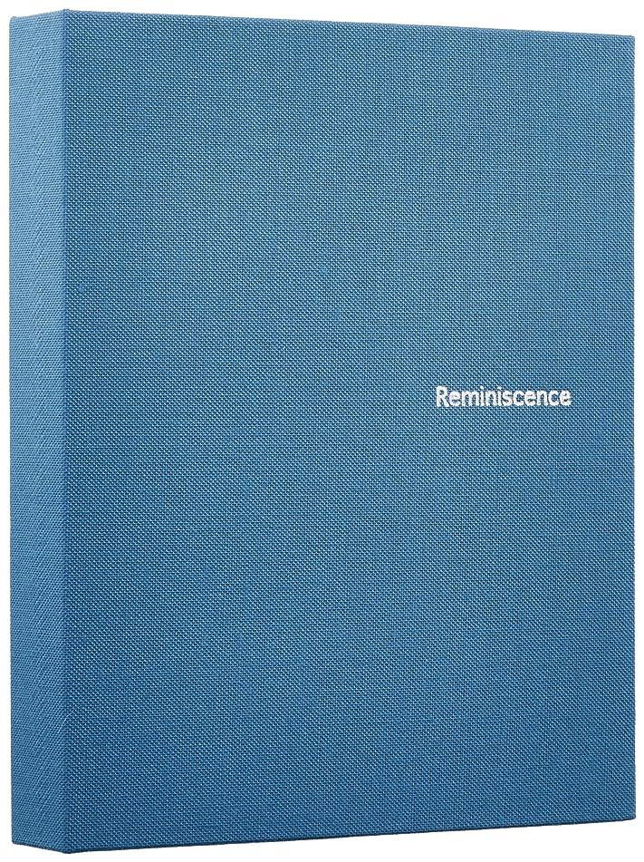 組み合わせとにかく花瓶SEKISEI アルバム ポケット ハーパーハウス レミニッセンス ミニポケットアルバム カードサイズ 80枚収容 チェキ/カード 51~100枚 布 ブルー XP-80C