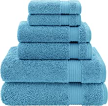 Hotel & Spa Quality, Absorbent and Soft Decorative Kitchen and Bathroom Sets, Cotton, 6 Piece Turkish Towel Set, Includes ...