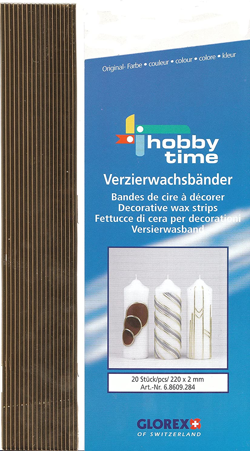 Glorex Wax Strips, Na, Gold, 28?x 5.6?x 0.2?cm