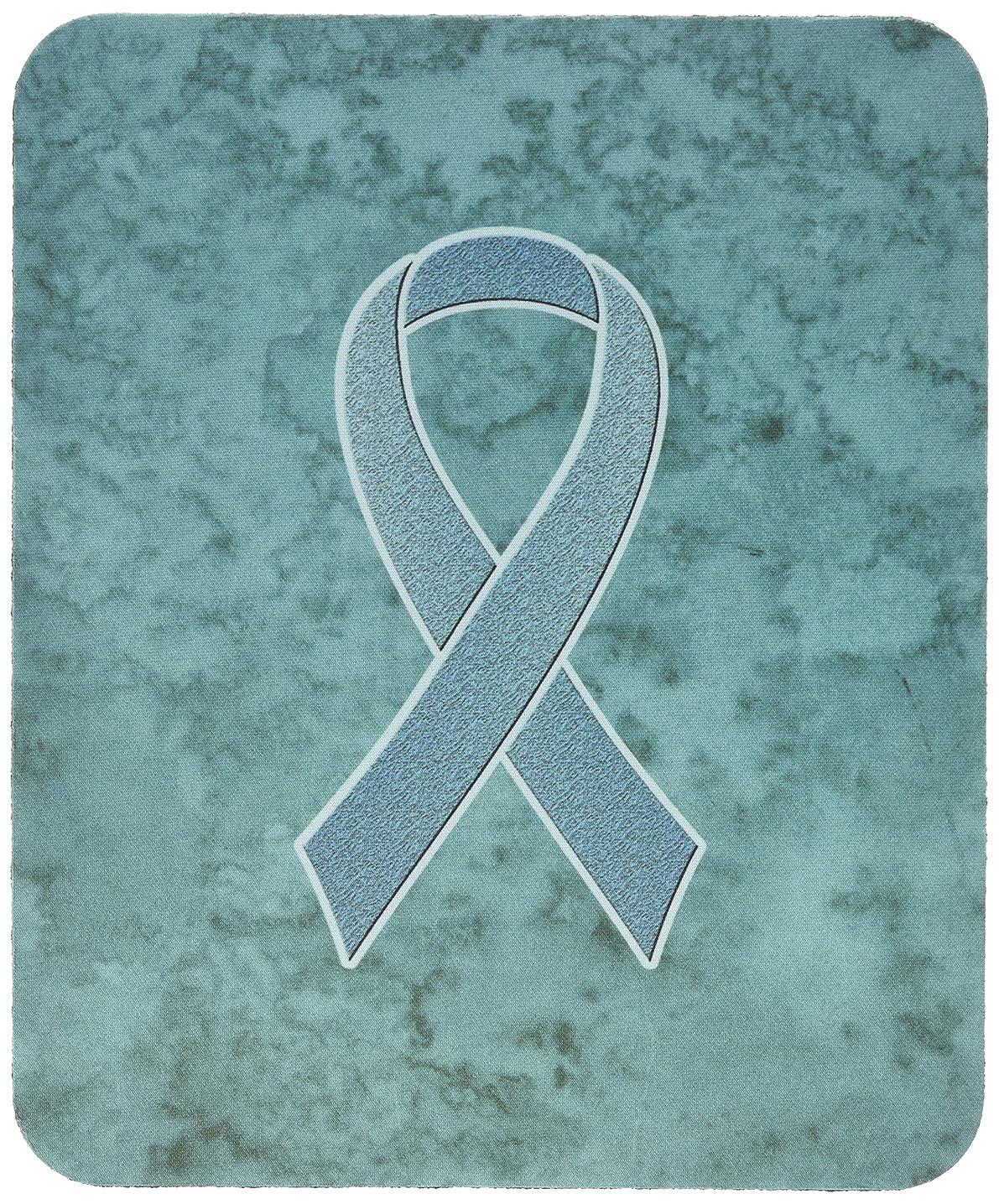 Caroline's Treasures Teal Ribbon for Ovarian Cancer Awareness Mouse Pad/Hot Pad/Trivet (AN1201MP)