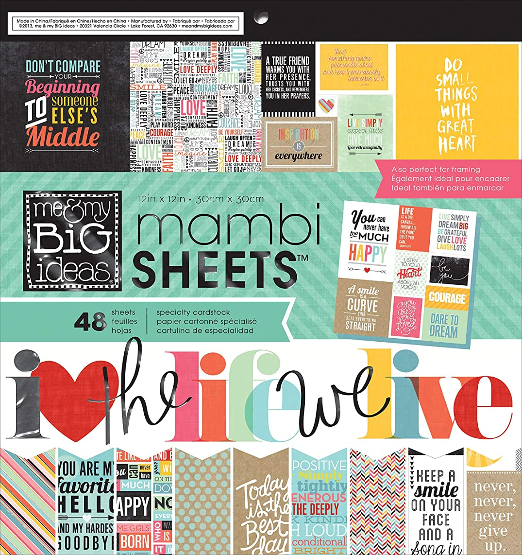 me & my BIG ideas Paper Pad, Quoted, 12-Inch by 12-Inch (Pack of 48)