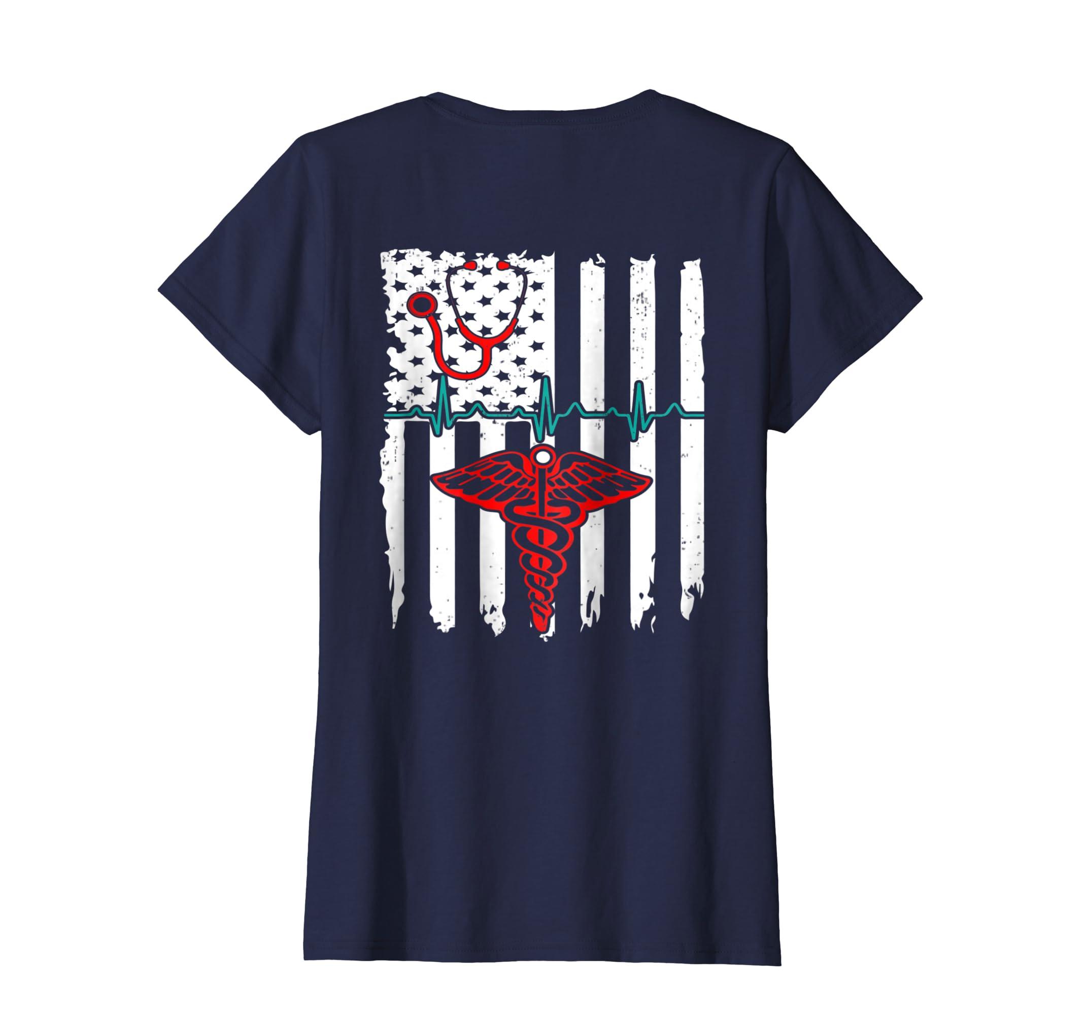 f36caee75 Amazon.com: Patriot Apparel Nurse T-Shirt American Flag Nurse T-Shirt:  Clothing
