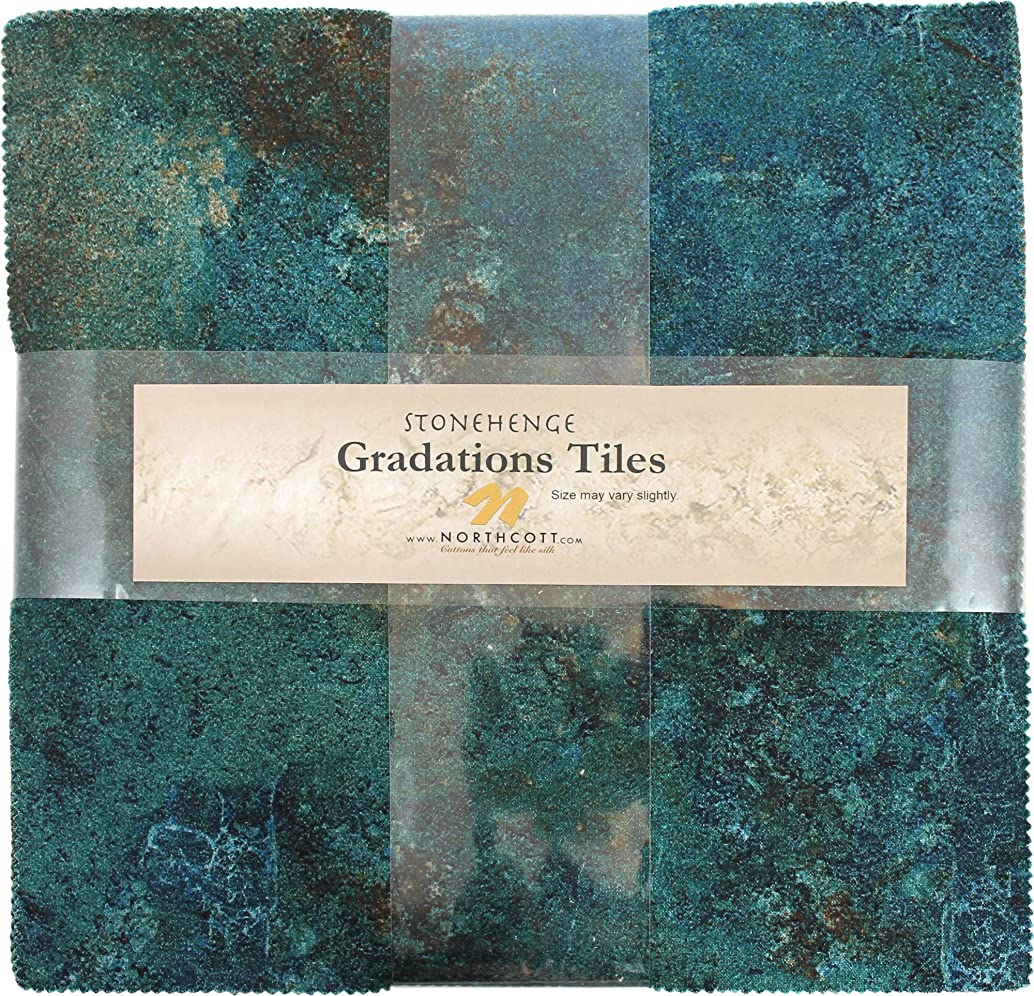 Stonehenge Gradations Oxidized Copper Stone Tiles 42 10-inch Squares Layer Cake Northcott