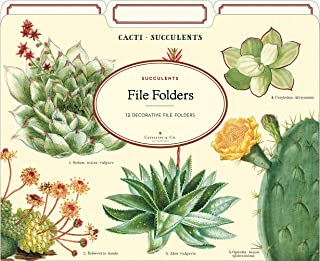 Cavallini Papers & Co., Inc. FF/SUC File Folders Succulents 12 File Foldersper Set