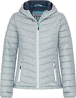 icefeld Chaqueta acolchada con capucha para mujer