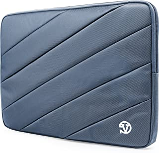 Vangoddy Shock Absorbent Carrying Quilted Sleeve Blue Travel Case for Fujitsu Lifebook 11.3 inch 12.5 inch Laptop Tablets