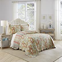 Waverly SPRING BLING Bedding Set with 2 Coordinating Shams, King, Vapor