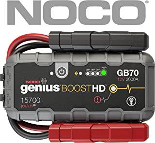 NOCO Boost HD GB70 2000 Amp 12V UltraSafe Lithium Jump Starter for up to 8L Gasoline 6L Diesel Engines