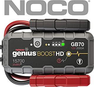 NOCO Boost HD GB70 2000 Amp 12V UltraSafe Portable Lithium Car Battery Jump Starter Pack for Up to 8L Gasoline and 6L Diesel Engines